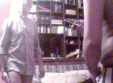 Gay sex caught on video